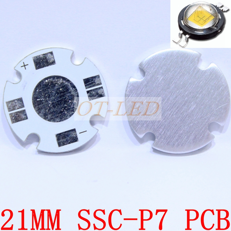 South Korea SSC-P7 21MM LED PCB/ Aluminum base plate/ Circuit board/ PCB LED board for SSC P7 LED ,20pcs/lot(China (Mainland))