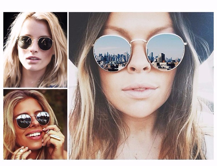 Luxury Vintage Round Sunglasses Women Brand Designer Female Sunglass Points Sun Glasses For Women Lady Sunglass Mirror 2017 Rays (16)
