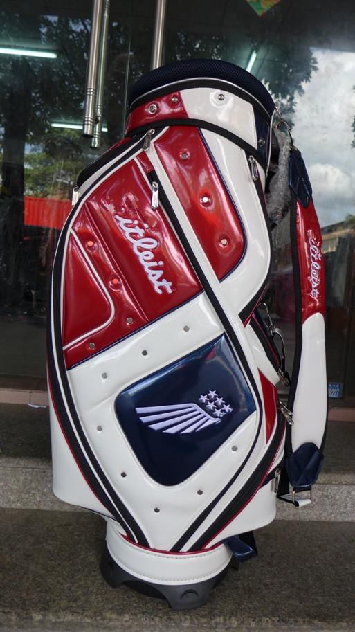 Tit 9.5'' | 5 Divider Ti Brand Golf Caddie Bag In White Red Golf Bag Ti 431(China (Mainland))