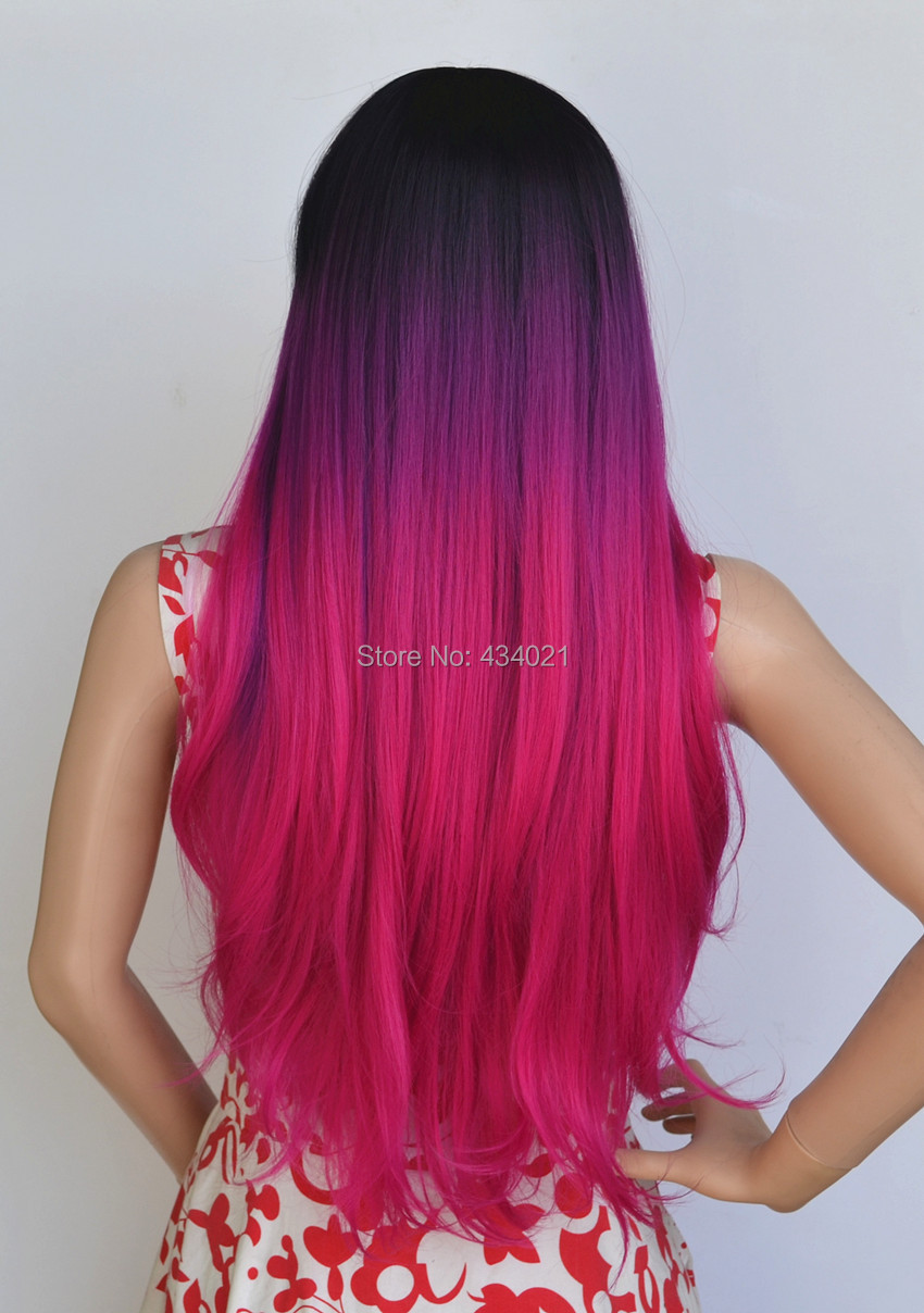Fashion cheap good quality synthetic ombre Purple Mixed ...