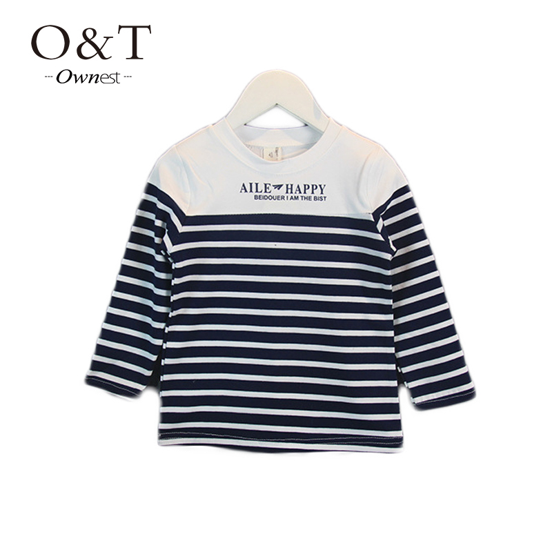 OWNEST Hot sale 2015 New arrive Baby boys clothes outside cotton bottoming t-shirt(China (Mainland))
