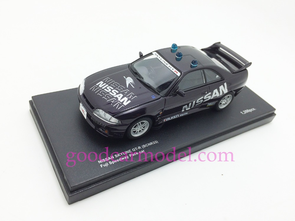 New Kyosho 1:43 Car Model Nissan Skyline GT-R (BCNR33) Fuji Speedway Pace Car 03343PC Free Shipping From HK(China (Mainland))