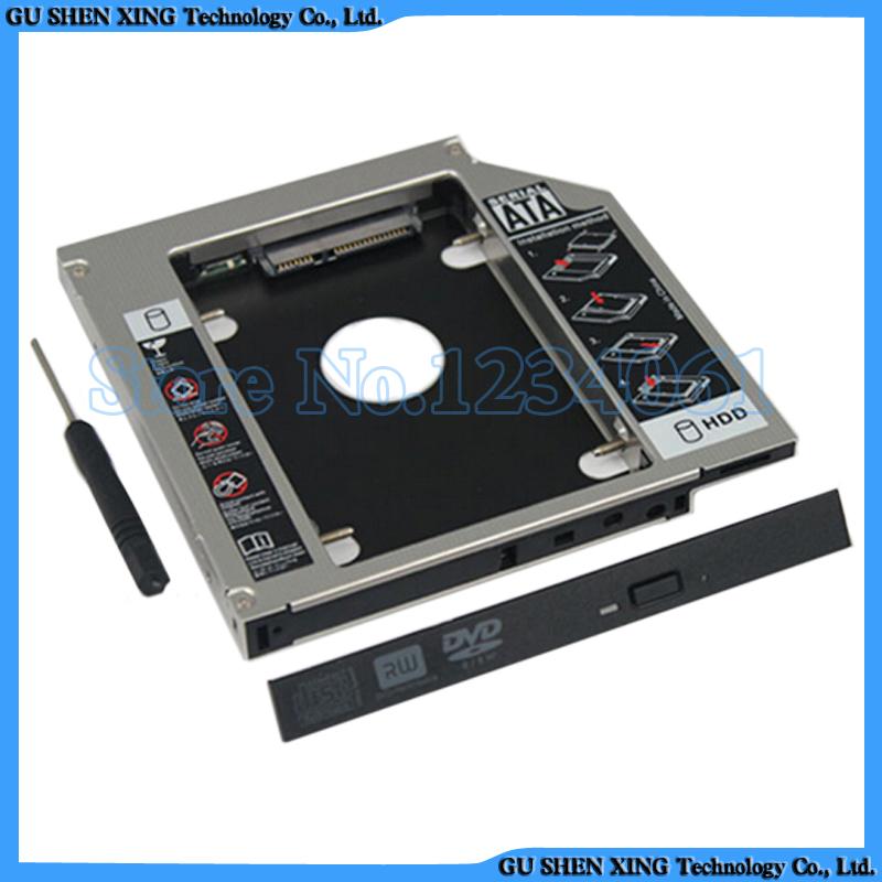 SATA 2nd Hard Drive SSD HDD Caddy for HP Pavilion 17 15 14 replace GU70N dvd 9.5mm(China (Mainland))