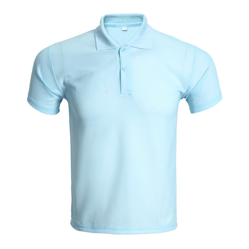 New Sky Blue Polo Shirt Men Polo Homme 2016 Mens Fashion Solid Color Short Sleeve Tennis Polo Shirts Brand Slim Fit Polos xxxl(China (Mainland))