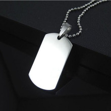 Polished Army Military Pendant Necklace Dog Tags For Men 316L Stainless Steel Necklaces Fine Jewelry Bijoux Gifts