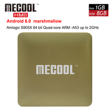 Buy MECOOL HM8 Android 6.0 TV Box Amlogic S905X Quad Core 64 Bit VP9 Profile wifi Smart Mini PC 1G+8G 4K TV Set Top Box Media Player for $32.21 in AliExpress store
