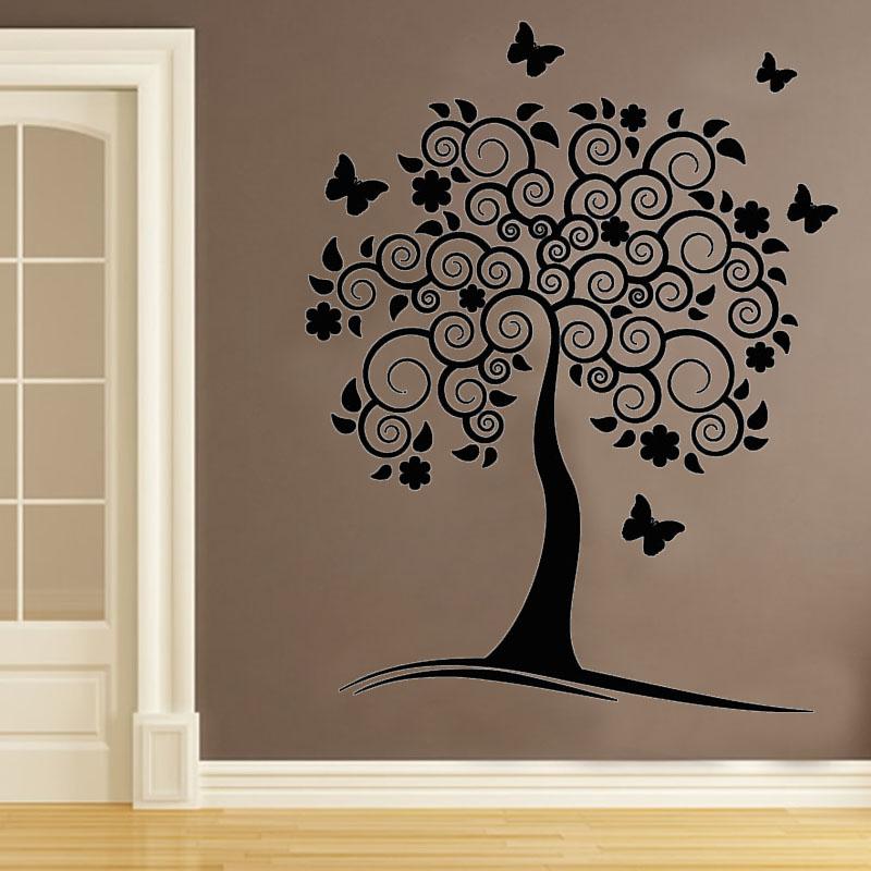 Трафареты для декора своими руками деревья