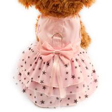 Armi store Black Star Pattern Summer Dog Dress Dogs Princess Dresses 6071033 Pet Pink Skirt Clothing Supplies XXS XS S M L XL(China (Mainland))