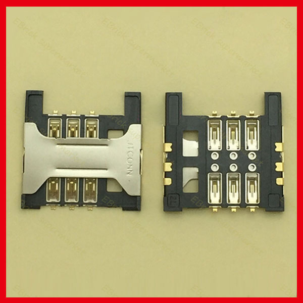 50pcs/lot Original New SIM Card Holder Tray Slot Connector for HUAWEI Y220 Lenovo A568t A788T