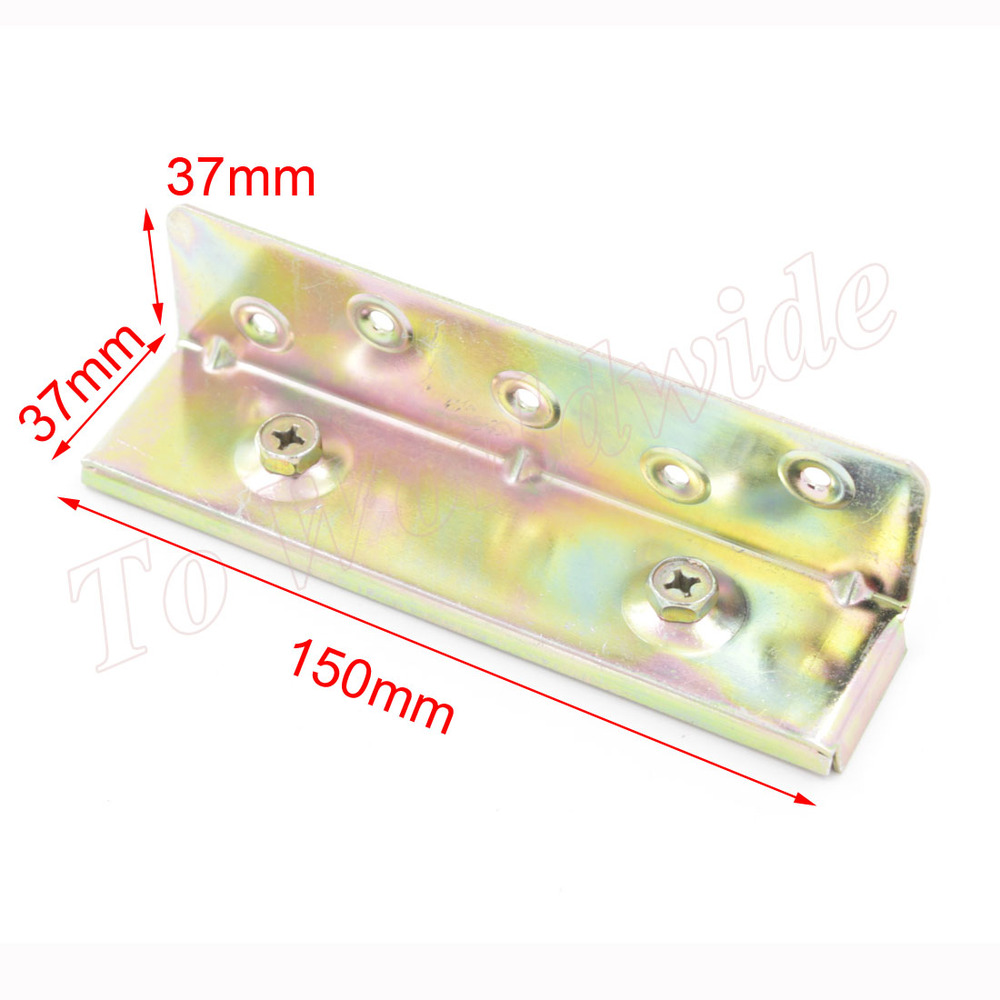 Гаджет  6 Inch 150mm x 37mm Brass Tone Screw Mounted Furniture Bed Hinge Connector Fitting None Мебель
