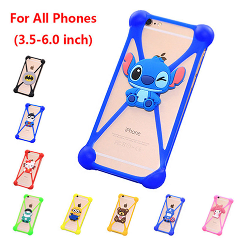 Newest Cute Cartoon Universal 3.5-6.0 inch Cell Phone Holster Cases Fundas For Blackberry Z10 Case Silicon Coque Back Cover(China (Mainland))