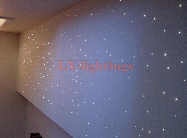 home decoration optic fiber light kit RGB led engine+optical fibres pack color change IR remote 5w colorful star - LY-Lightings store