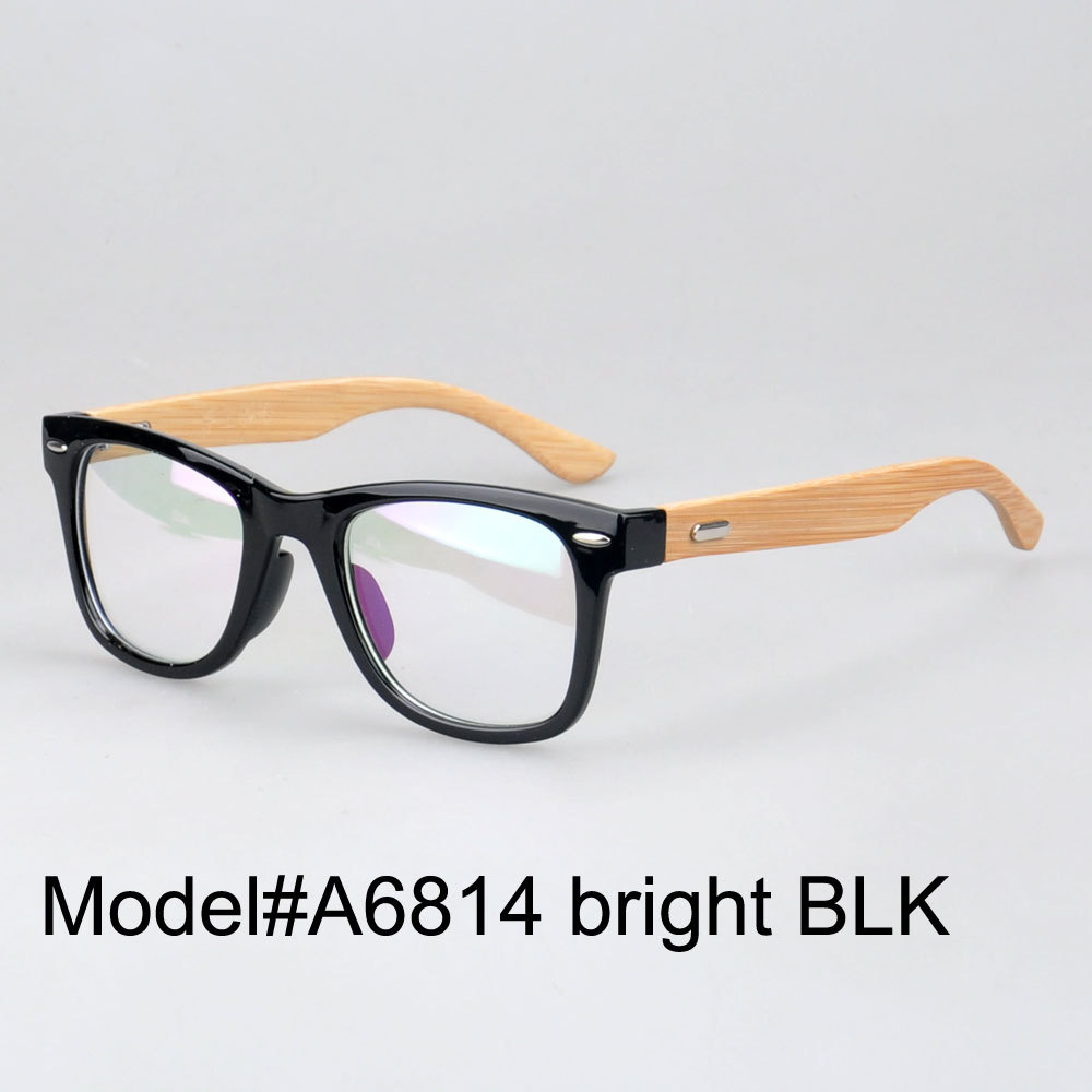 #A6814 new arrival comfortable frames plastic frame bamboo temple glasses(China (Mainland))