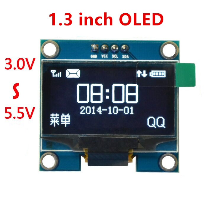 """10PCS blue and white color 128X64 1.3 inch OLED LCD LED Display Module For Arduino 1.3"""" IIC Communicate(China (Mainland))"""
