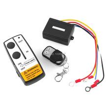 New DC 12V Volt Black Wireless 50FT Remote Control Kit for ATV Winch Latest Indicator Light Universal Switch Handset(China (Mainland))