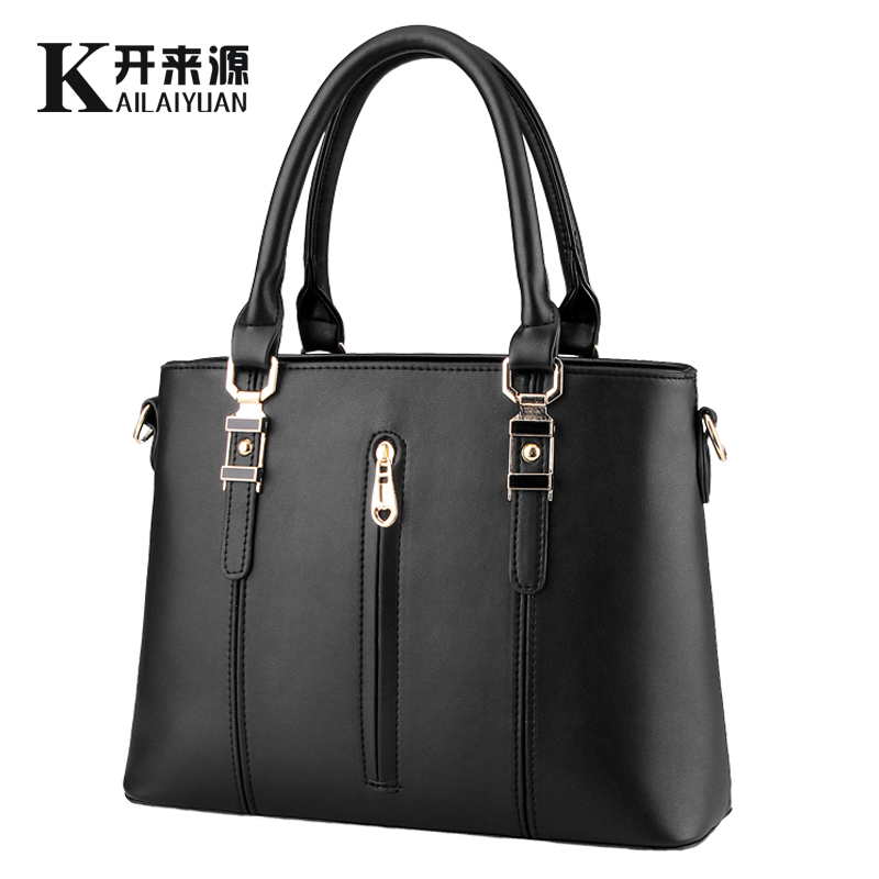 KLY 100% Genuine leather Women handbags 2016 New tide spring zipper bag ladies fashion handbag Crossbody Shoulder Handbag(China (Mainland))