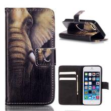 For iPhone 5s Leather Case Elephant Ears Leather Wallet Case for iPhone SE / for iPhone 5s / for iPhone 5 FREE SHIPPING(Hong Kong)