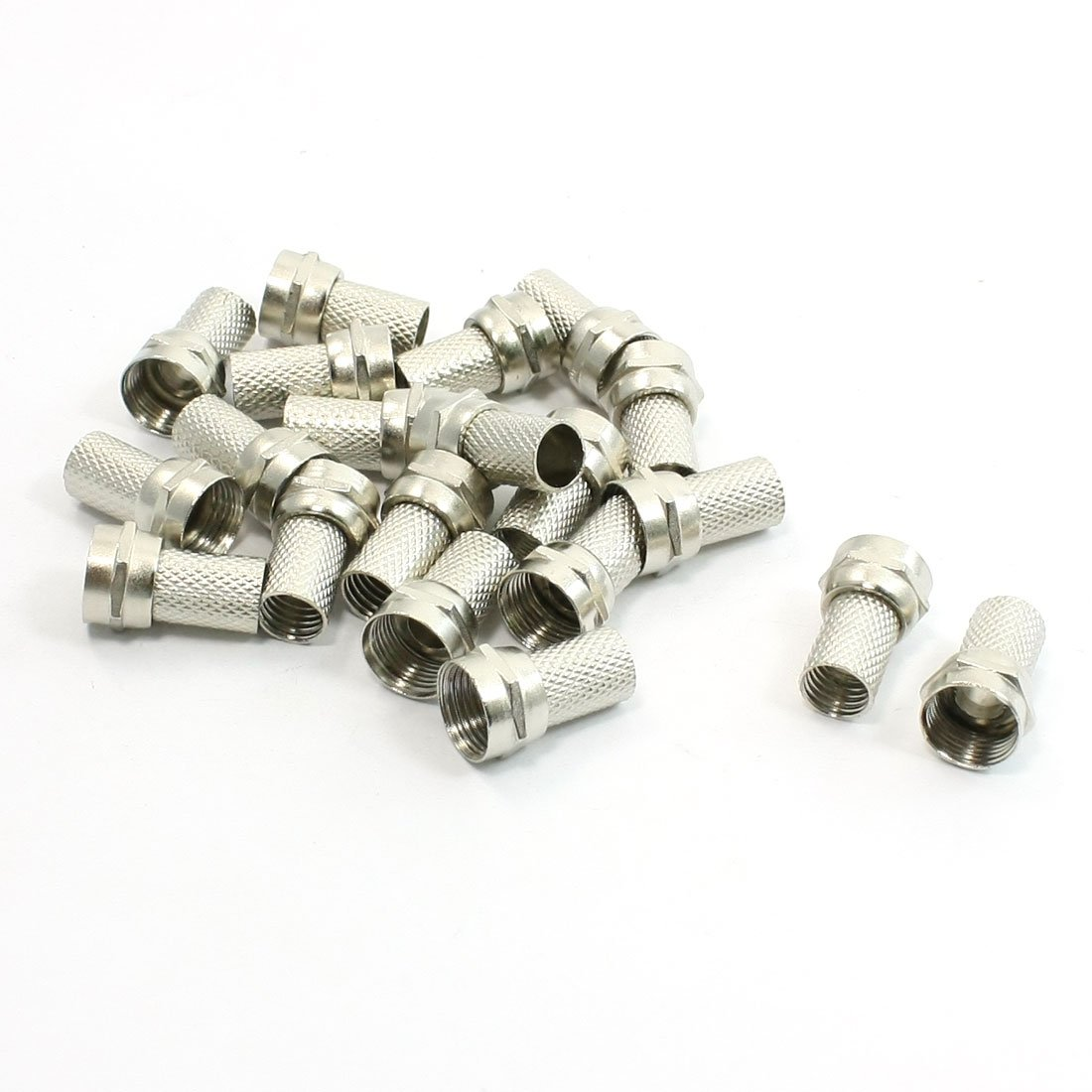 WSFS Hot 20Pcs CCTV RG6 F-Type Twist-On Coax Coaxial Cable RF Connector Male(China (Mainland))