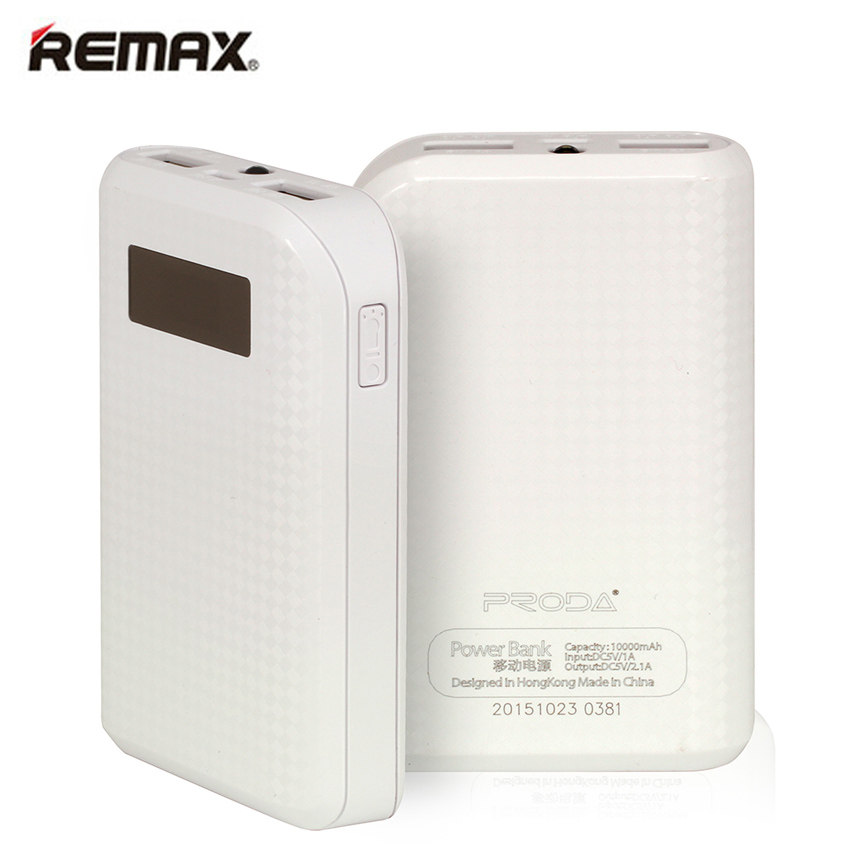 REMAX Fashion Proda Power Bank 10000mAh Portable External Battery Mobile Backup Bateria Externa Universal Charger Powerbank