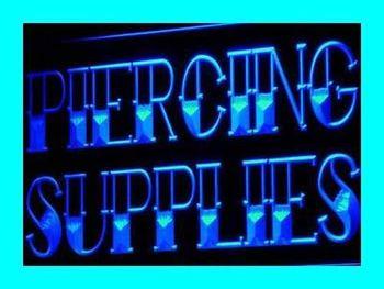 i624-b Piercing Supplies Tattoo Shop LED Neon Light Sign
