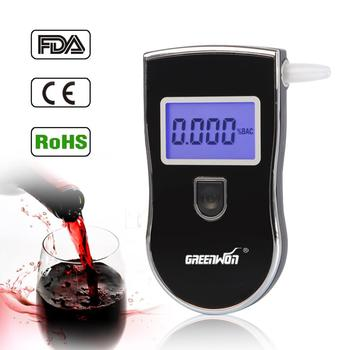 Patented Alcohol Tester Breathalyzer alcohol detector with retractable breath pipe, 3 Digits LCD Display &5PCS  FREE mouthpiece