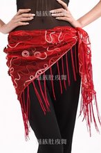 20pcs/lot belly dance paillette hip scarf/belly dance belt/belly dance hip scarf
