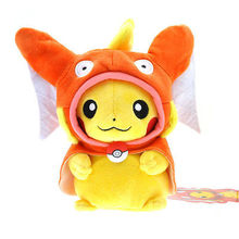 Pokemon Plush Doll Stuffed Toy Pikachu Mega Charizard Y Pikazard for Kid birthday gift and toy(China (Mainland))