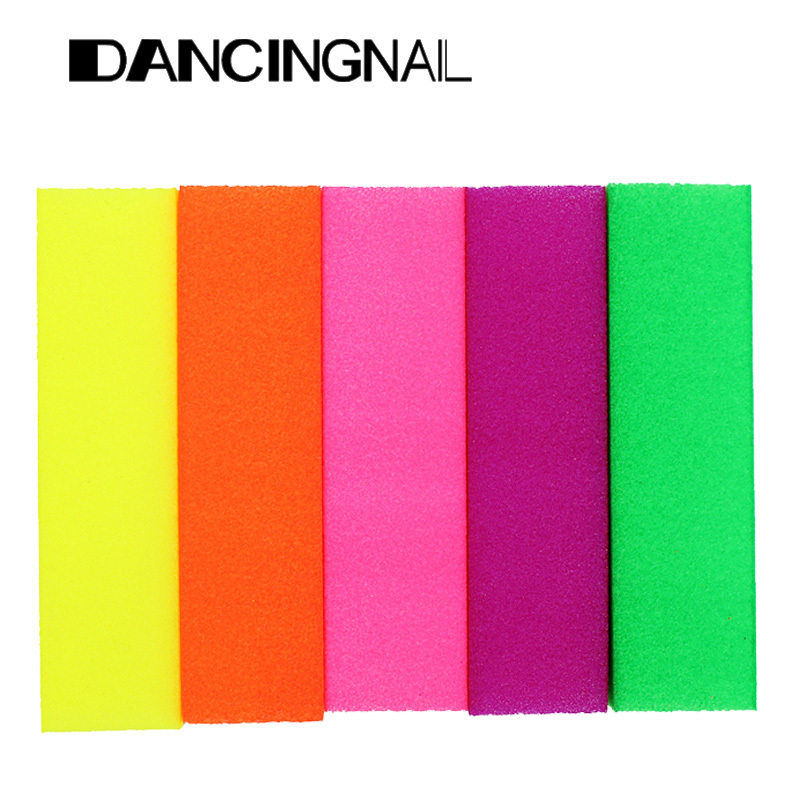 Wholesale 5 Pcs Fluorescent Color Buffing Sanding Buffer Block Files Manicure Nail Art Tips Women Beauty Manicure Tools Hot(China (Mainland))