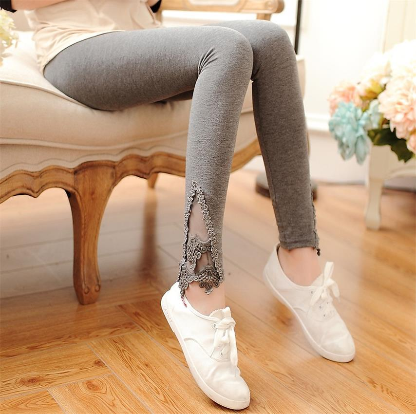 2015 Fall Fashion Women Leggings Fitness Punk Gothic Jeggings Lace Casual Sport Pants Calca Feminino Girls Pants Trousers(China (Mainland))