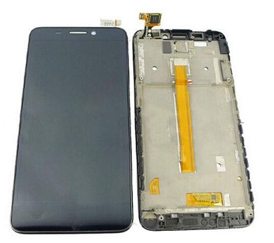 100% New Original  For Alcatel One Touch Idol S 6034R LCD Display and Touch Screen Digitizer Assembly with Frame Free shipping