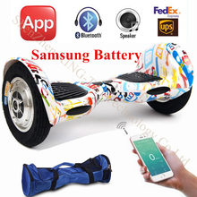 10 inch Two Wheel Self Smart Balance Scooter Electric Skateboard Hoverboard Drift Scooter Self Balancing Scooter Hover Board(China (Mainland))