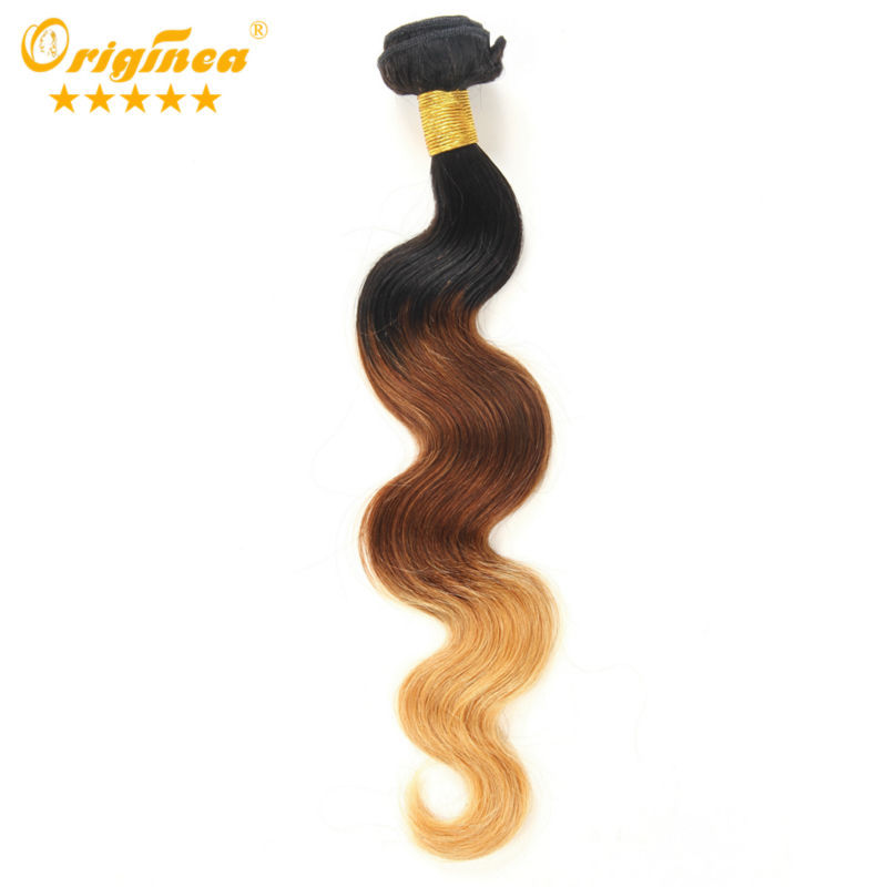 Queen Brazilian Ombre Body Wave Hair Extensions Three Tone Human Hair Weave Same or Mix Size 2bundles Ombre Human Hair 10-24inch<br><br>Aliexpress