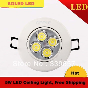 Free Shipping 10 pieces/lot 5W Led Ceiling Light Bulb 4 Pieces Epistar Leds Aluminum Radiator 3000K/4000K/6000K With CE