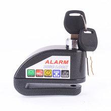 Hot Sale Security Protect Motorbike Motorcycle Anti Thief Electric BikeScooter Wheel Disc Brake Alarm Lock Zinc Alloy Siren Lock(China (Mainland))