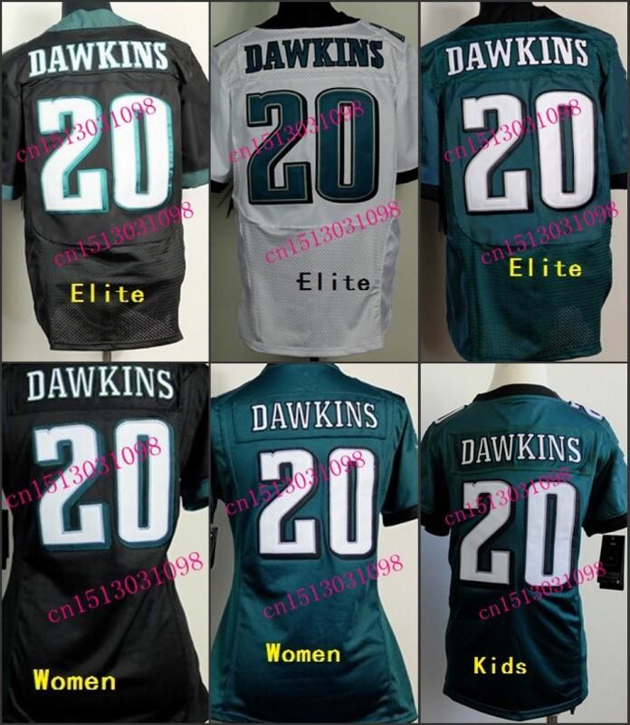 2015 New Style 20 Brian Dawkins Jersey Green Black White Stitched Cheap Football Jerseys(China (Mainland))