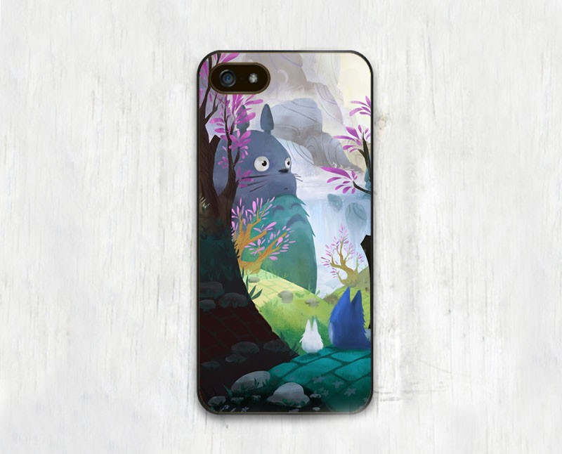 Funny Catroon Anime Totoro Printed Soft TPU Black Skin Phone Case Accessories For iPhone 6 6S Plus 5 5S 5C 4 4S Back Shell Cover