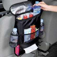 New Design Convenient Auto Car Seat Organizer Holder Multi-Pocket Travel Storage Bag Hanger Back Free Shipping QC23(China (Mainland))