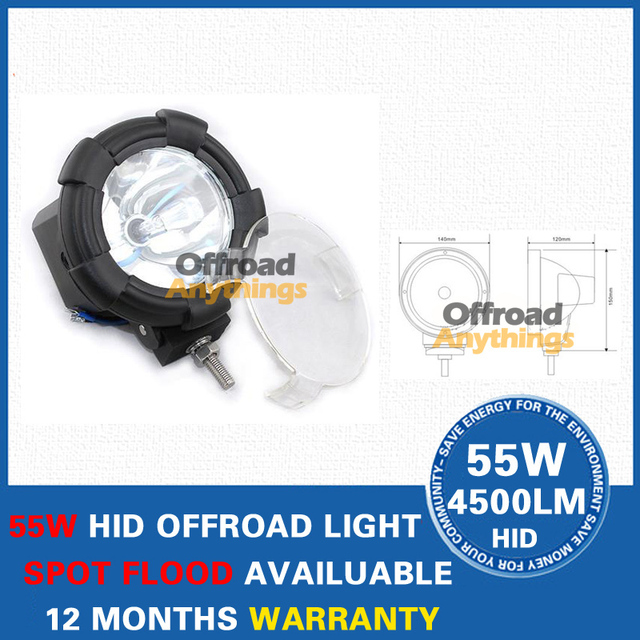16 Pcs 4inch HID Driving Light 12V 75W 6000 lumens HID Work Light Hid Head Light HID Offroad Light For Car , Truck , Forklift