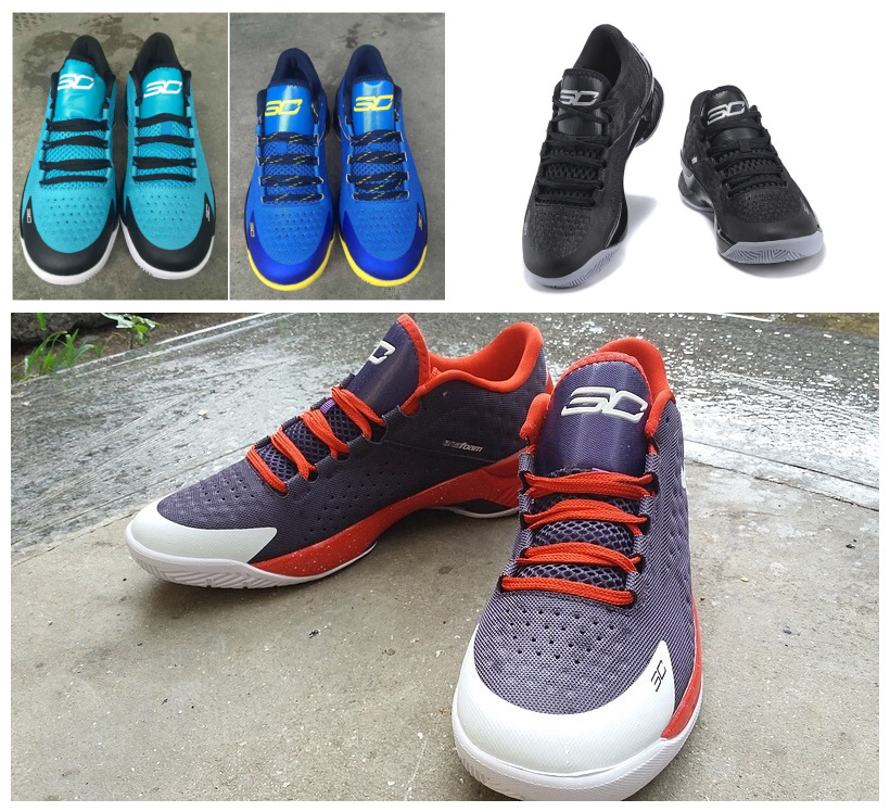 2015 colors curry one shoes low free shipping limited stephen curry basketball shoes for men size 8,8.5,9.5,10,.11,12(China (Mainland))