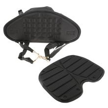 Adjustable Anti-Slip Black Nylon Comfort Sit On Top Kayak Canoe Rowing Boat Seat Backrest with Back Bag Water Sports Accessory(China (Mainland))