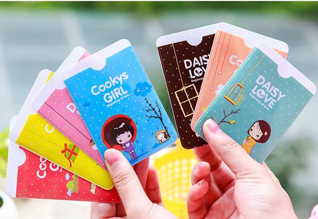 2016 NEW Min. (mix order) 2357 Korea stationery sweet girl mo-moi card case PVC bus card holder DDWWA5009(China (Mainland))