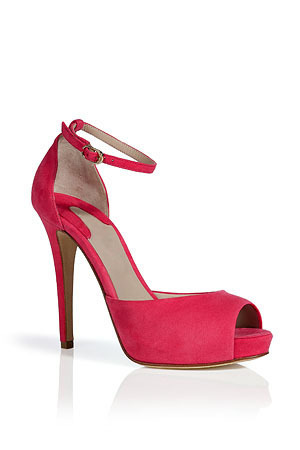 2013  new  arrive  fashion  KID SUEDE   red   High  heeled 12cm  Platform  2cm  back strap women  Sandals