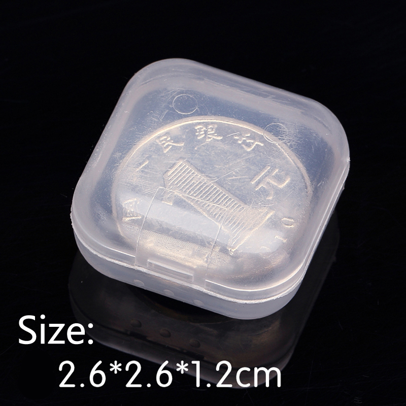 transparent PP small square Boxes Plastic Packaging storage box , with lid for jewelry box chip accessories Finishing box(China (Mainland))