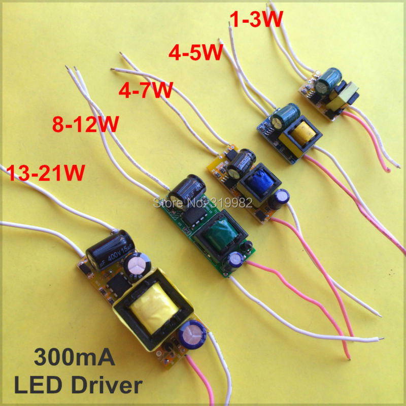 2 PCS LED Driver Build Housing Power Supply Constant Current 300ma 1W 3W 5W 10W 15W 20W LED Lamp Transformer E27 E14 GU10