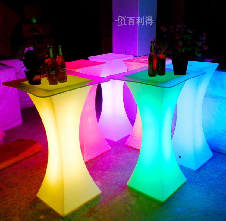 New fashion Led furniture RGB color Cocktail table waterproof Reception table bar hotel disco party supply(China (Mainland))