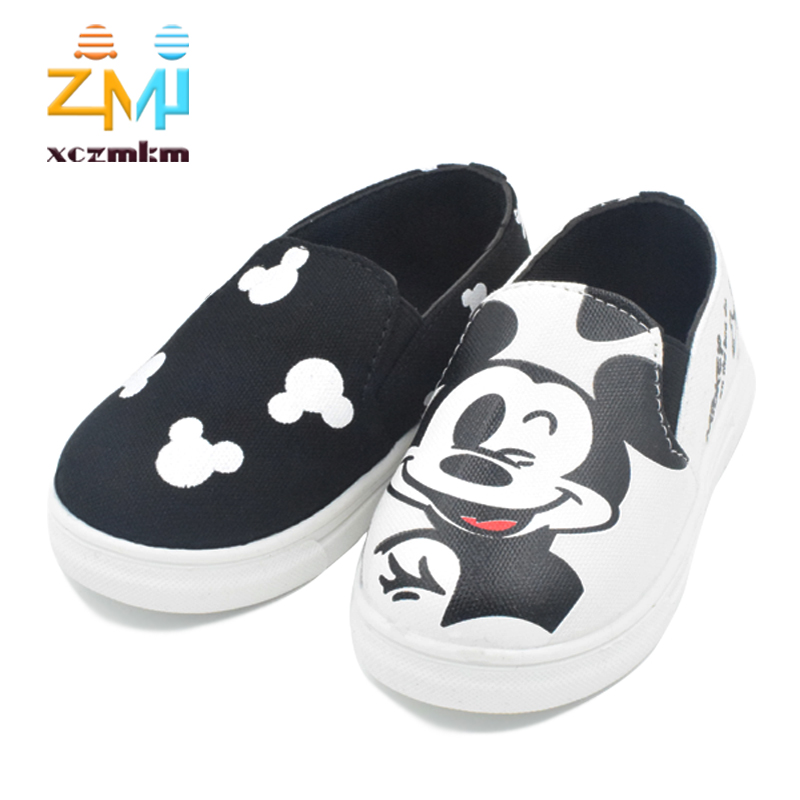 New 2016 children shoes sneakers canvas cartoon hello kitty running sport girls and boys shoes female all size 21-30(China (Mainland))