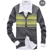 Knitting cardigan men casual men sweater trend Spring and autumn  men's sweaters Men's clothing