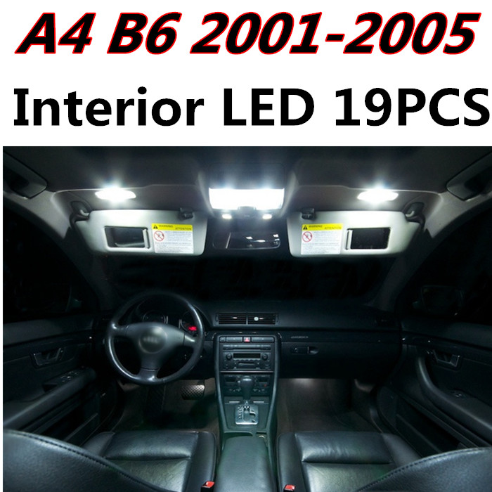 19pcs X free shipping Error Free LED Interior Light Kit Package for AUDI A4 B6 S4 accessories 2001-2005<br><br>Aliexpress
