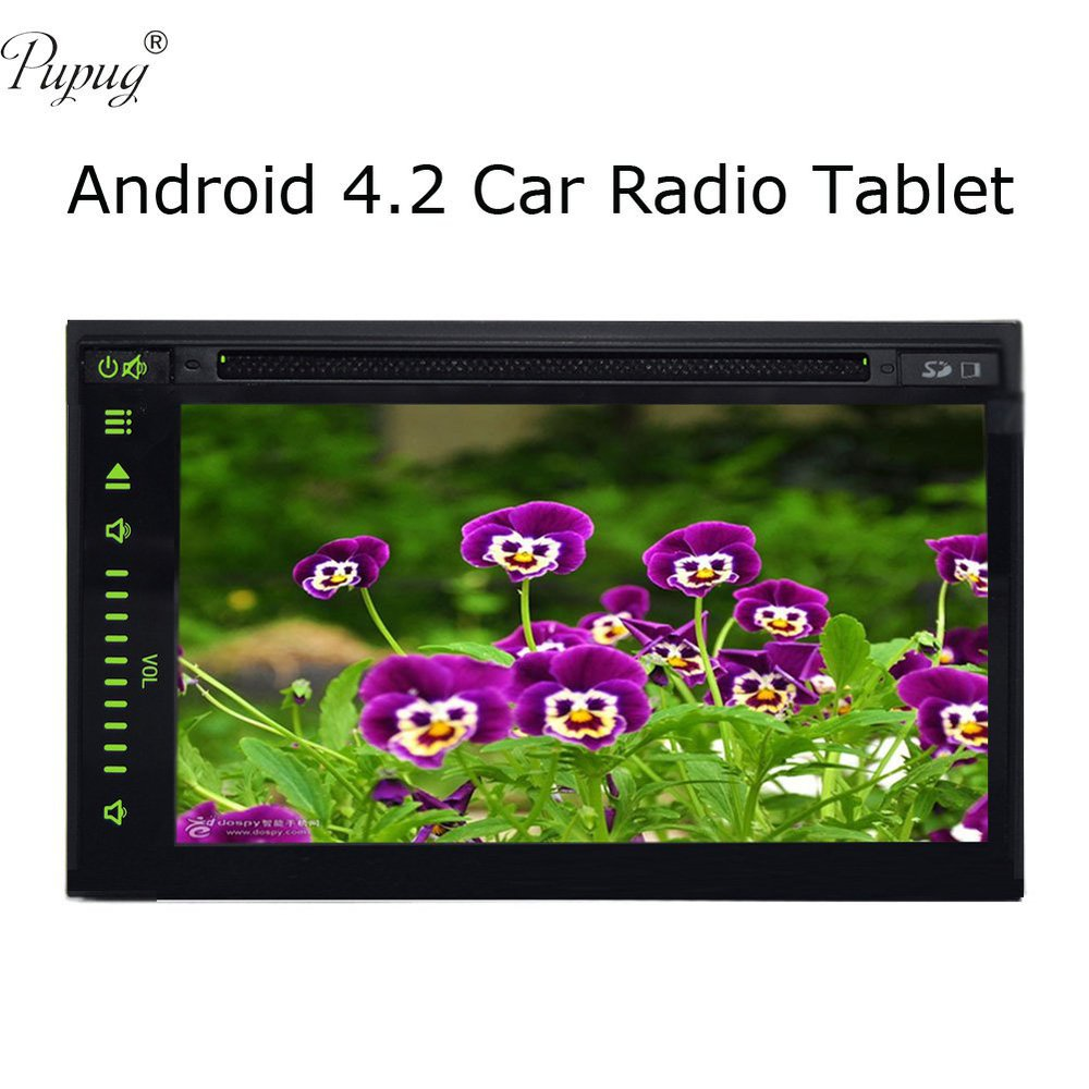 "Android 4.2 Car Radio Tablet Universal 7"" inch 2 din GPS Car Stereo DVD Video Player Wifi BT RDS USB/SD Car PC Audio Head Unit(China (Mainland))"