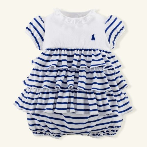 Hot sale infant cotton rompers cute baby girls striped skirt style jumpers new summer cool kids wear brand polo rompers 16J03(China (Mainland))